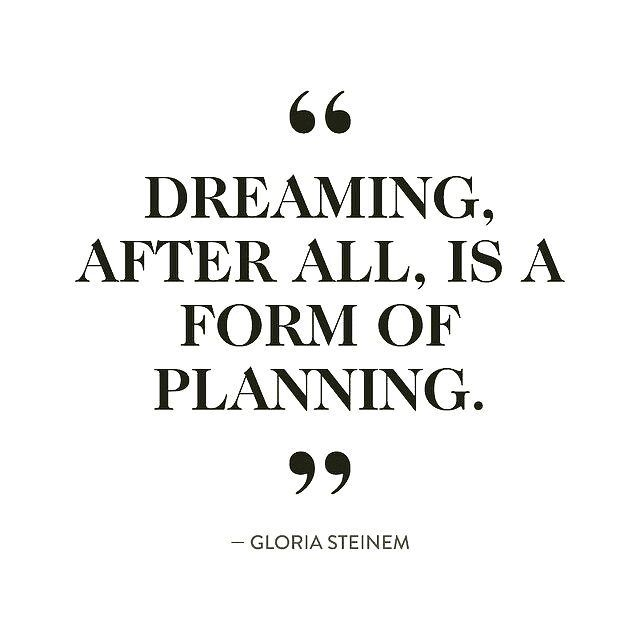 """Dreaming after all, is a form of planning"" https"