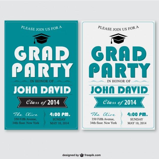 Descargar Plantillas Para Invitaciones De Graduacion By