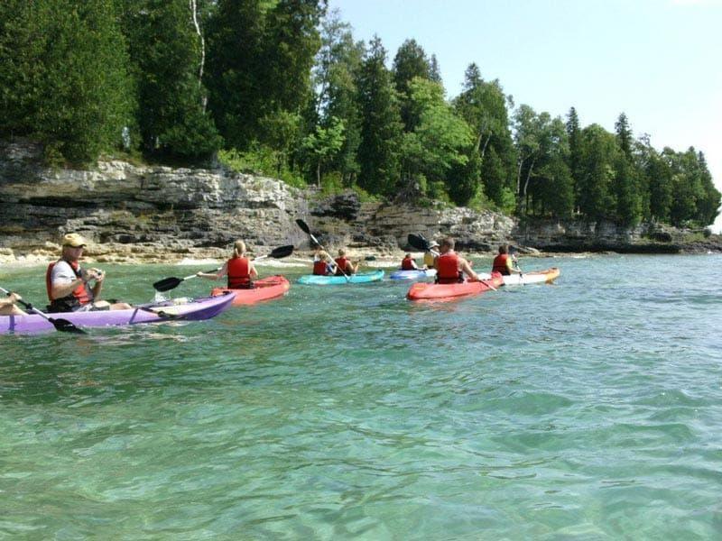 Kayak Tours In Door County Lakeshore Adventures Glass Bottom Kayak Tours Kayaking Door County Wi