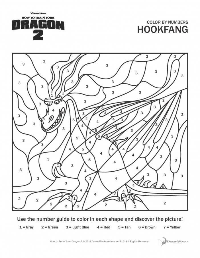 How To Train Your Dragon Coloring Pages And Activity Sheets For