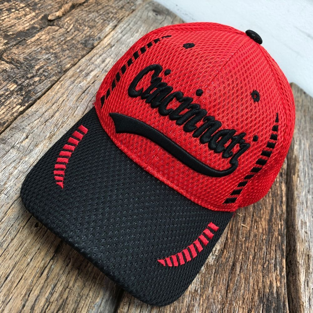 9af4f70ab19 CINCINNATI Baseball CAP HAT Air Mesh Breathable RED W BLACK BRIM A  fashion   clothing  shoes  accessories  mensaccessories  hats (ebay link)