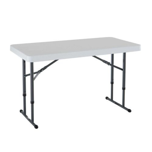 80160 Lifetime 4ft Adjustable Folding Table Competitive Edge