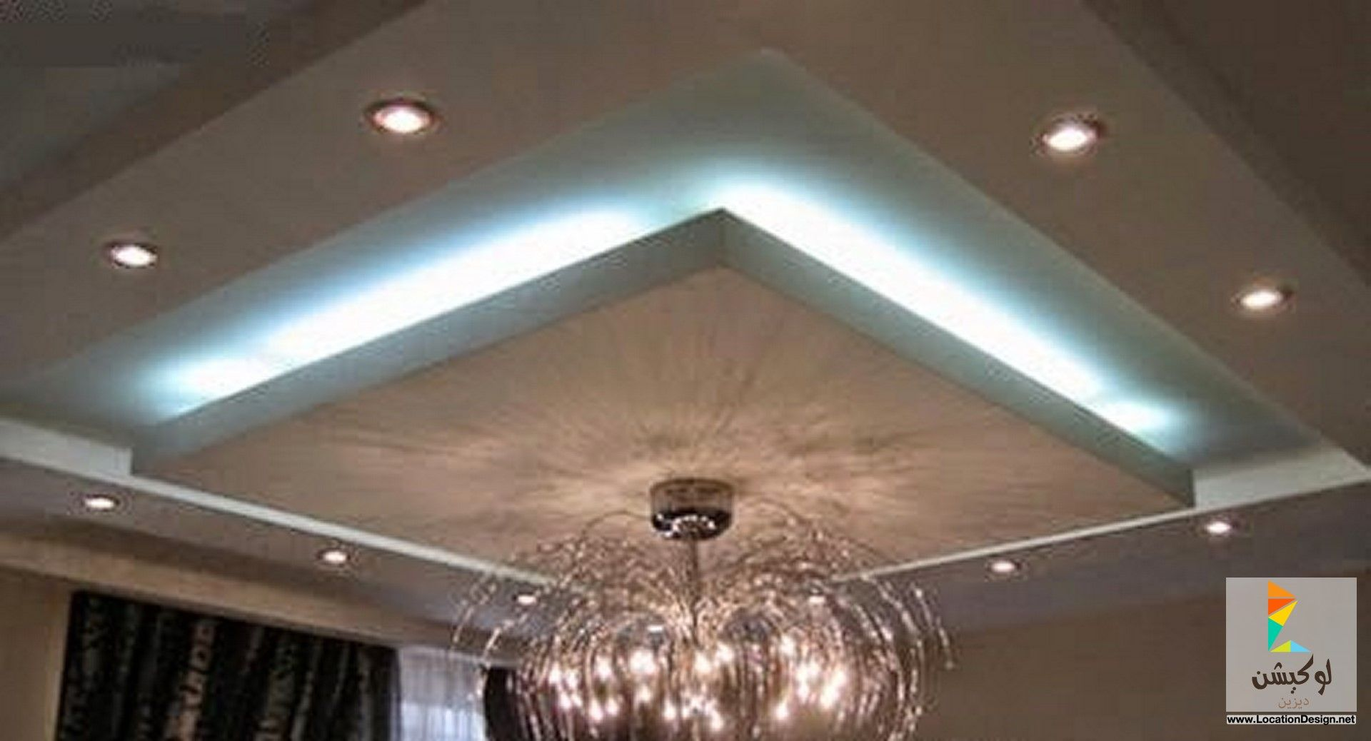 اضاءة اسقف جبسية 2015 لوكشين ديزين نت False Ceiling Ceiling Design Ceiling Lights