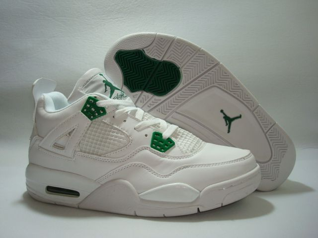 jordan retro 4 white and green