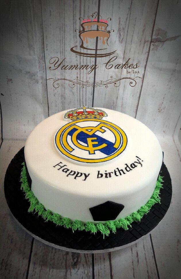 Cool Real Madrid Cake Real Madrid Cake Soccer Cake Cake Funny Birthday Cards Online Elaedamsfinfo