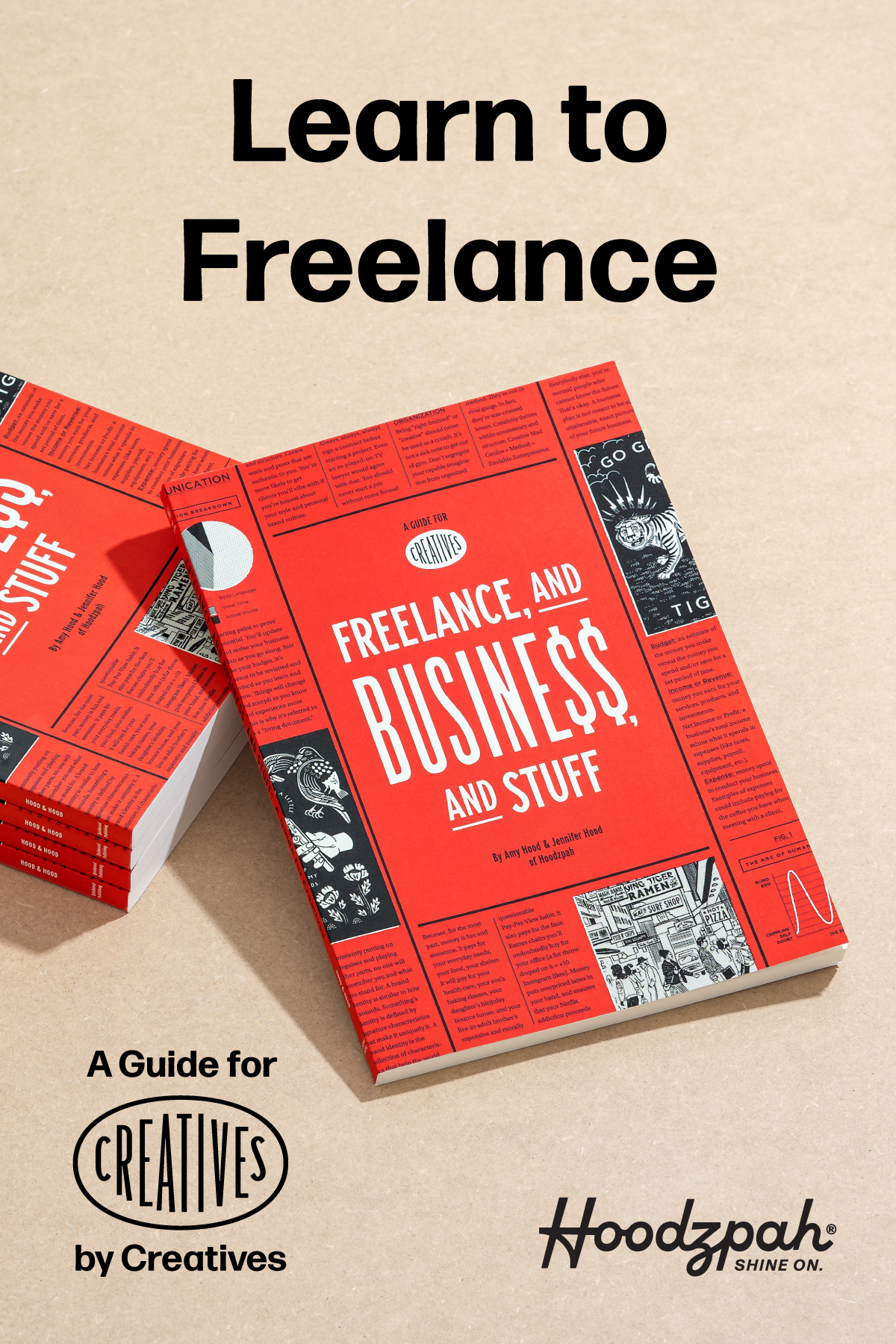 Freelance And Business And Stuff Paperback Hoodzpah Graphic Design Business Business Starting Your Own Business