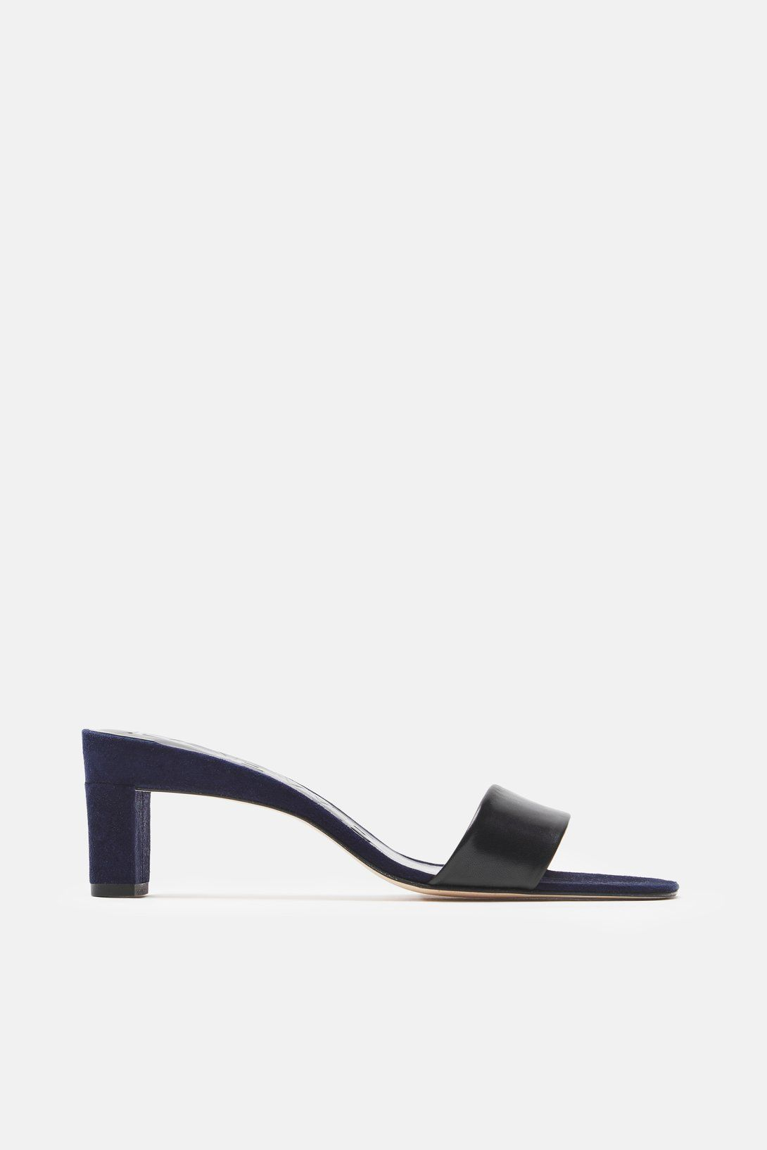 6a1b83b372 Low Mule Slide - Black/Navy   ON THE LINE   Fashion Shoes, Navy, Shoes