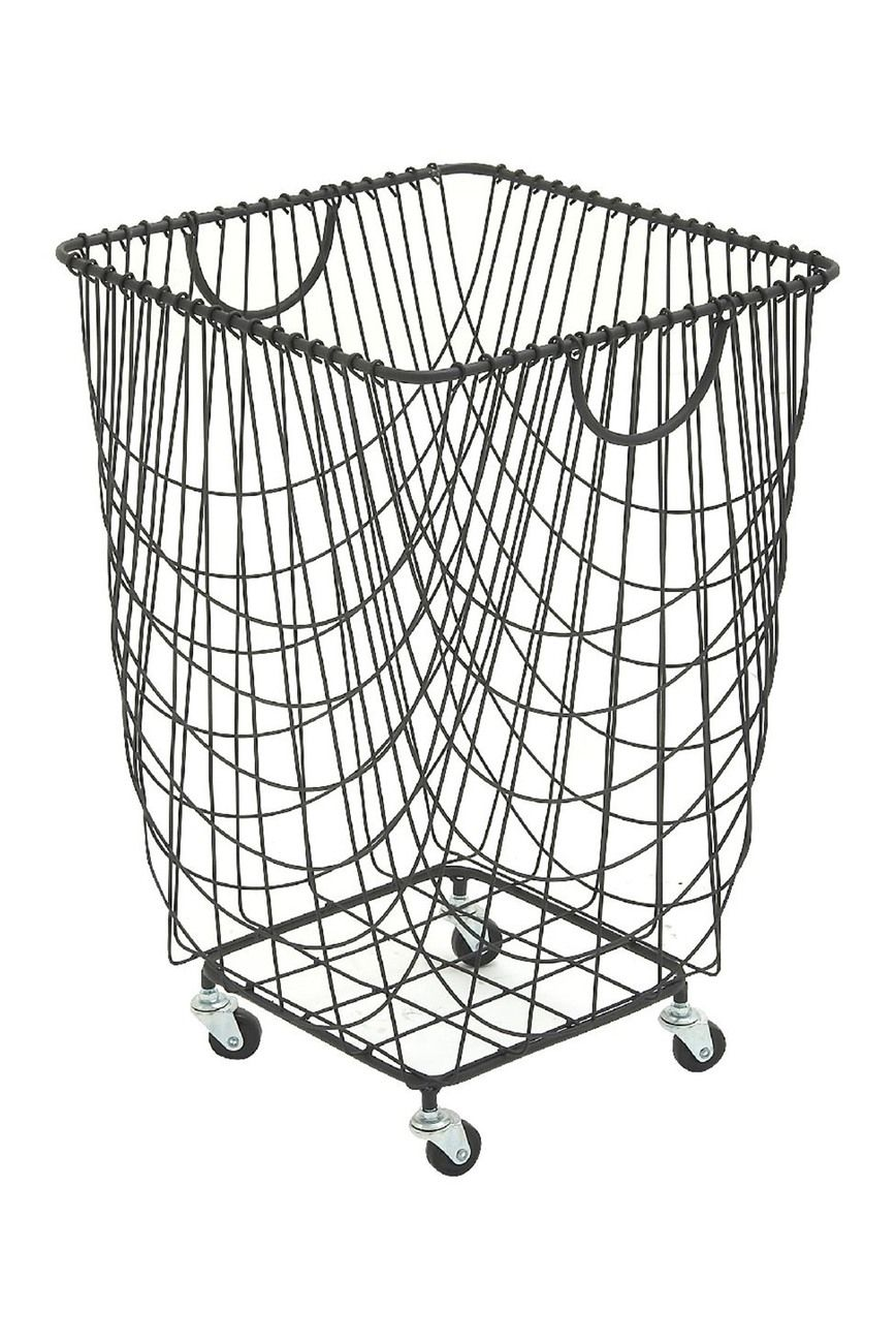 Uma Rolling Hamper Basket In 2020 Metal Laundry Basket Hamper