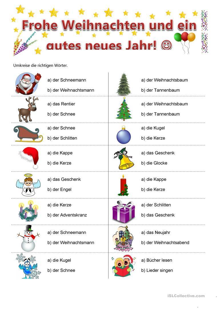 Weihnachten weihnachten deutsch und arbeitsbl tter for Weihnachten auf englisch