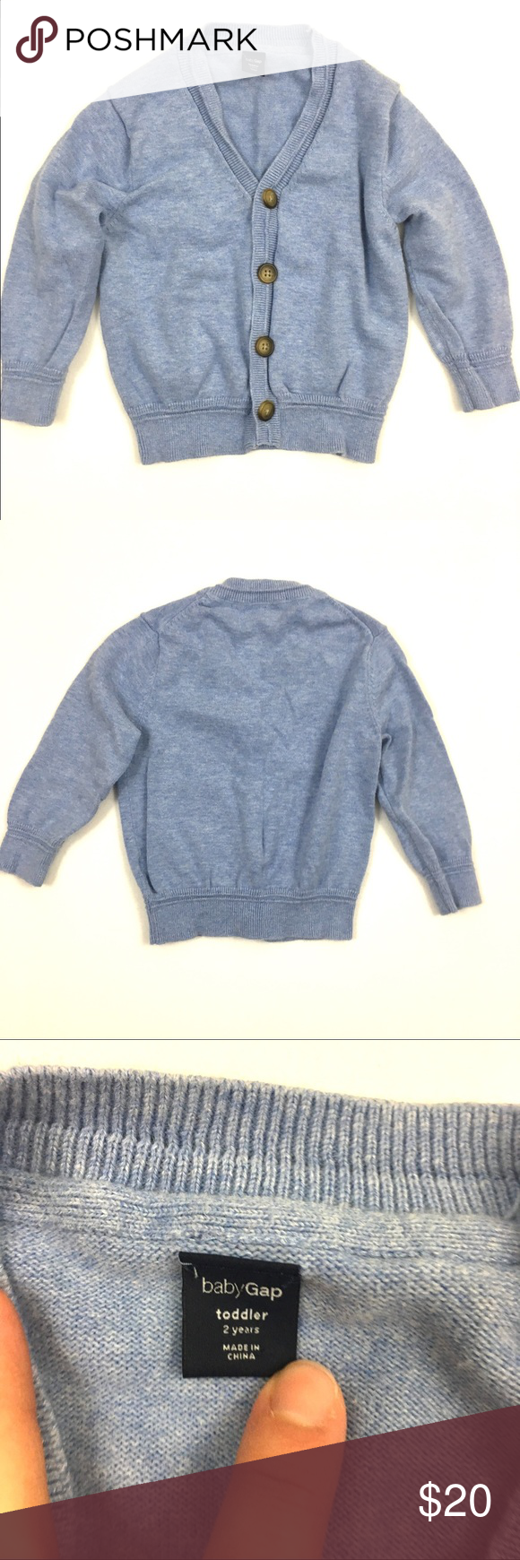 Boys (2T) Gap blue cardigan sweater Boys (2T) Gap light blue v ...