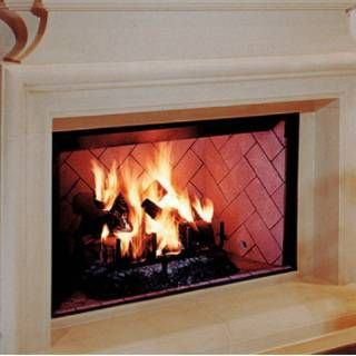 Superior Fireplaces 42 Louvered Wood Burning Fireplace With