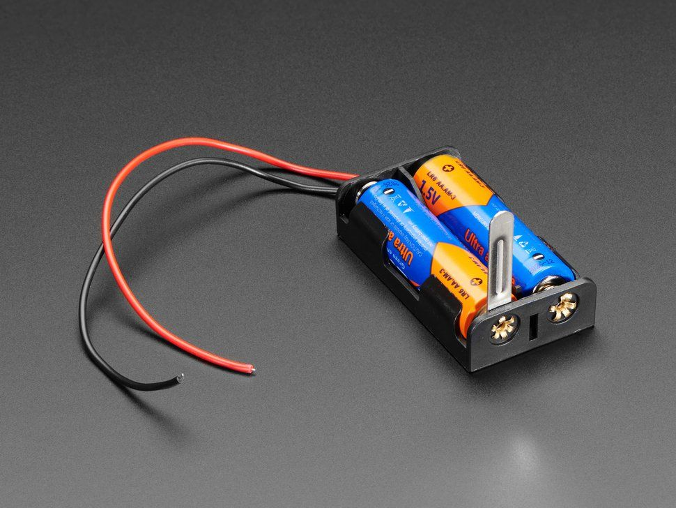 2 X Aa Battery Holder With Knife Switch Battery Holder Battery Holders Battery