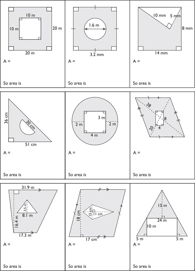 Printables Area Of Composite Figures Worksheet 1000 images about geometry on pinterest special right triangle shape posters and problems