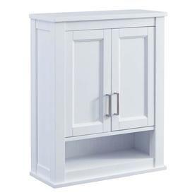 Scott Living Durham 24 In W X 30 H 10 D White Bathroom Wall Cabinet 1328wc 241