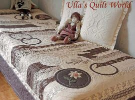 Quilted cover, Jelly Rolls
