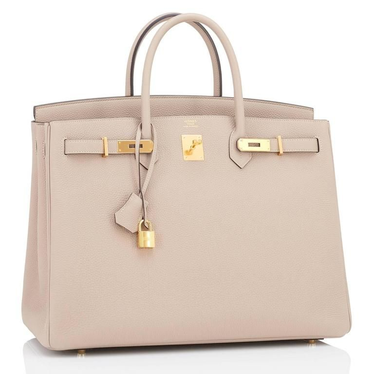 b6938796f5d Hermes Gris Tourterelle 40cm Togo Birkin Bag Gold Hardware Superb 2 ...