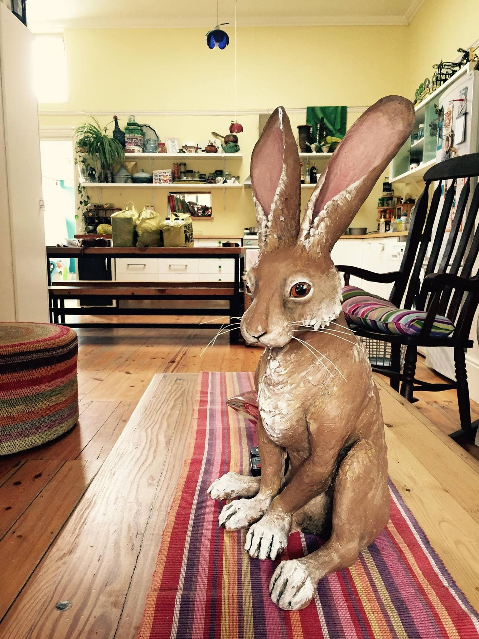 The Amazing Anne Marie Rosenstein New Ceramic Hare April 2015