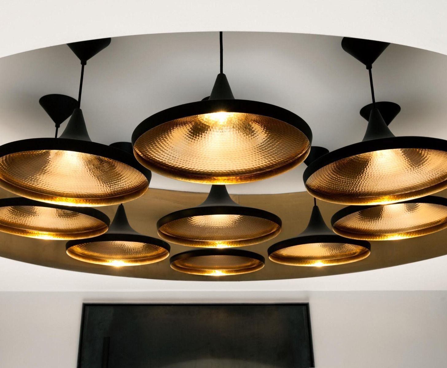 Beat Wide Black Pendant Pendant Lights Tom Dixon Aluminum Pendant Lamp Tom Dixon Lighting Tom Dixon