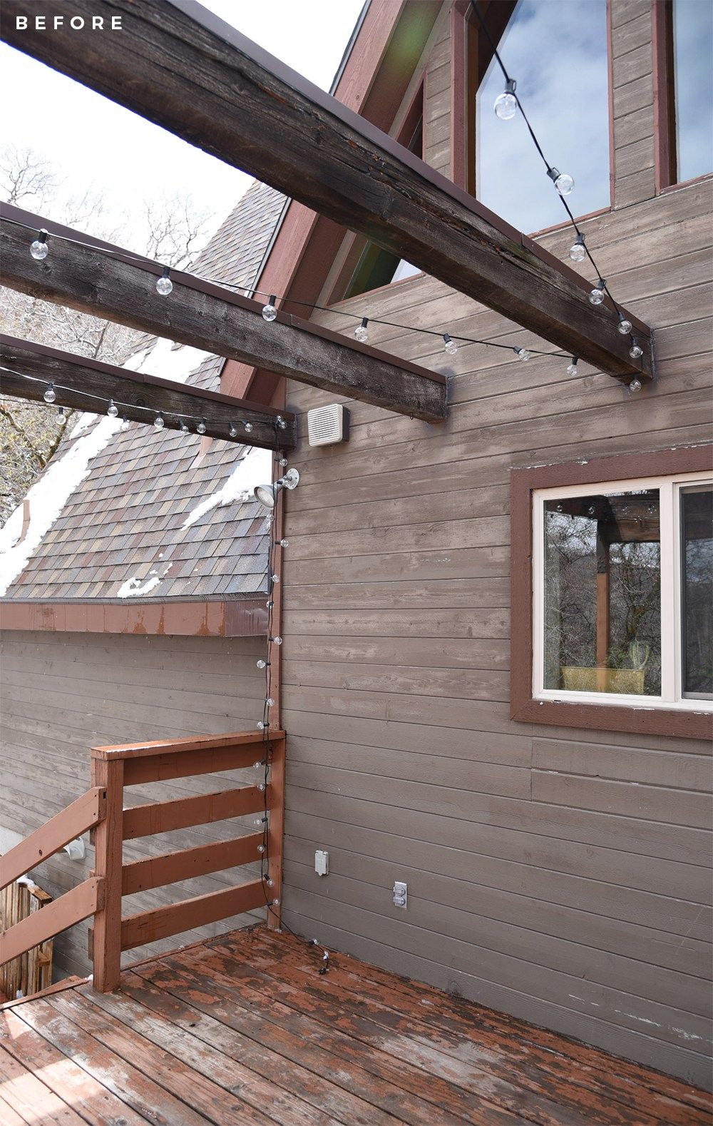 A-Frame Cabin Deck Makeover - Room for Tuesday