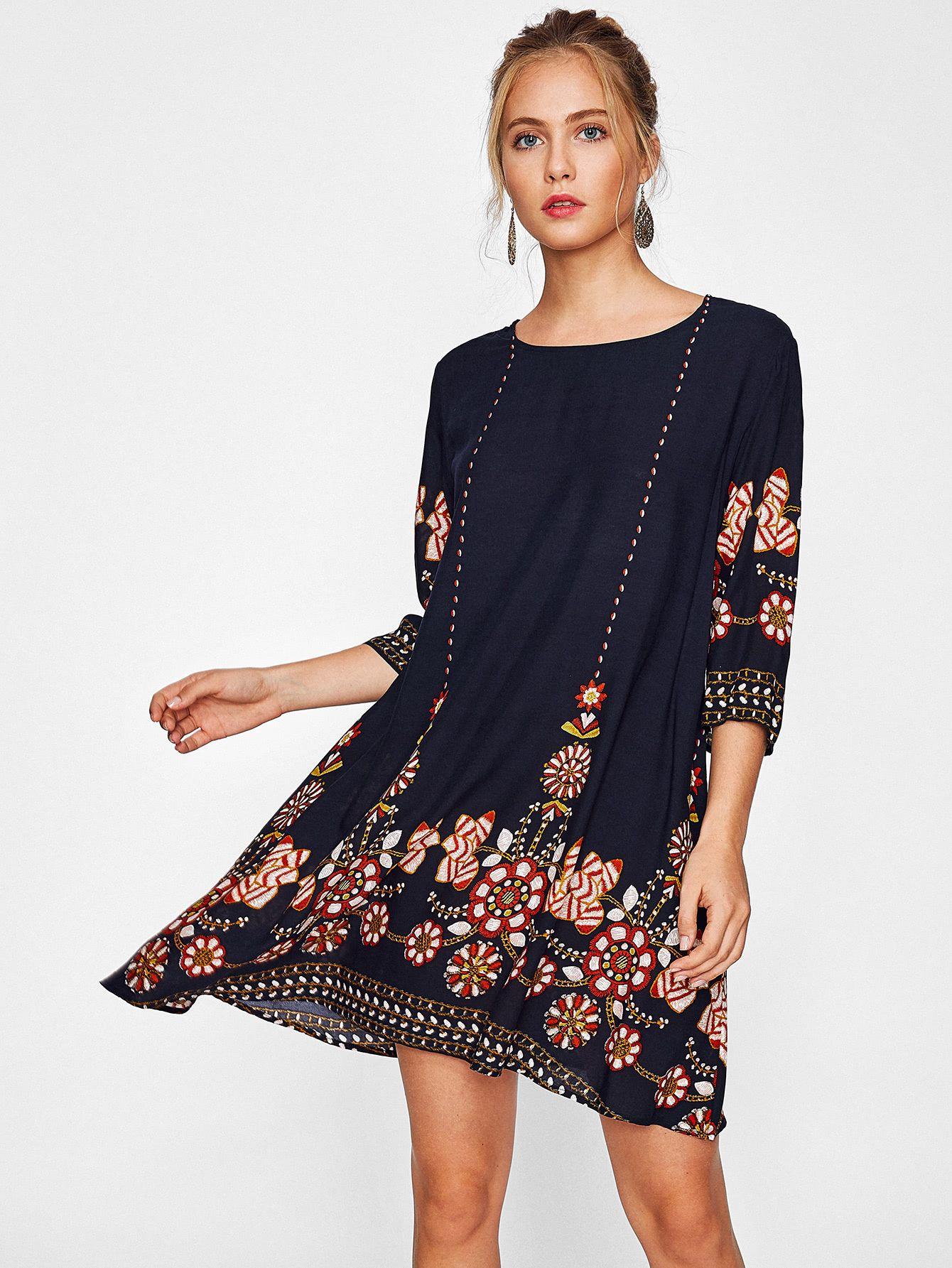 d062440ff09f6 Shop Flower Print Flowy Dress online. SheIn offers Flower Print Flowy Dress  & more to fit your fashionable needs.
