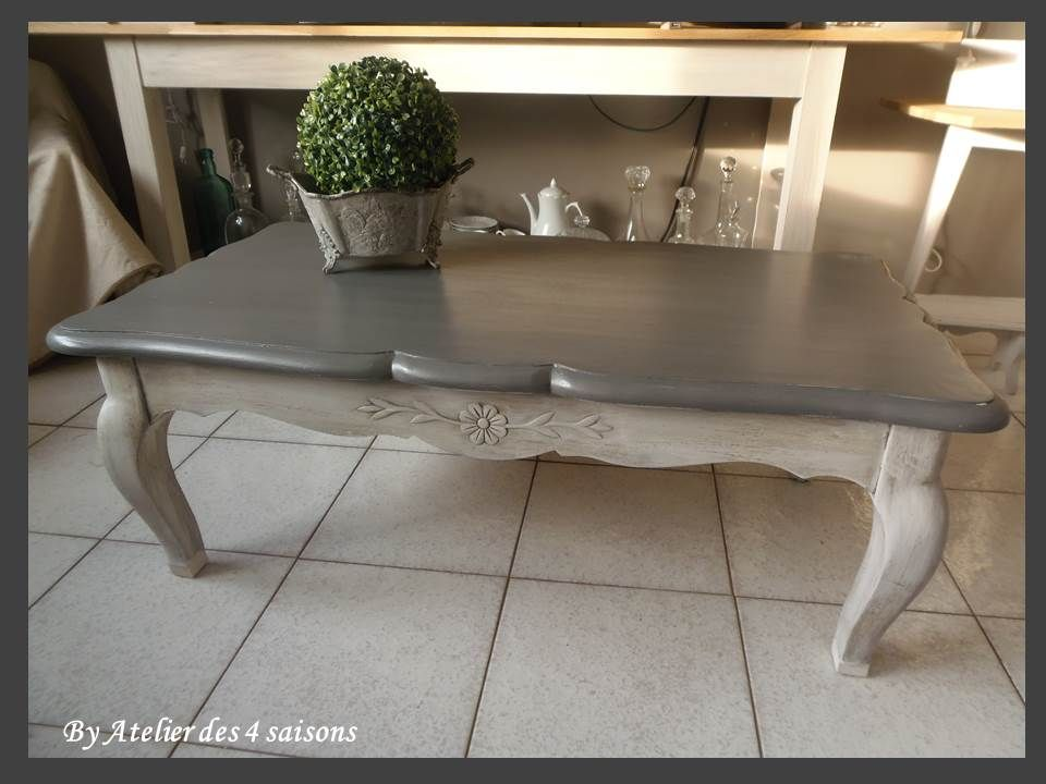 Table Basse Atelierdes4saisons Style Louis Xv Patine Revisite Dans