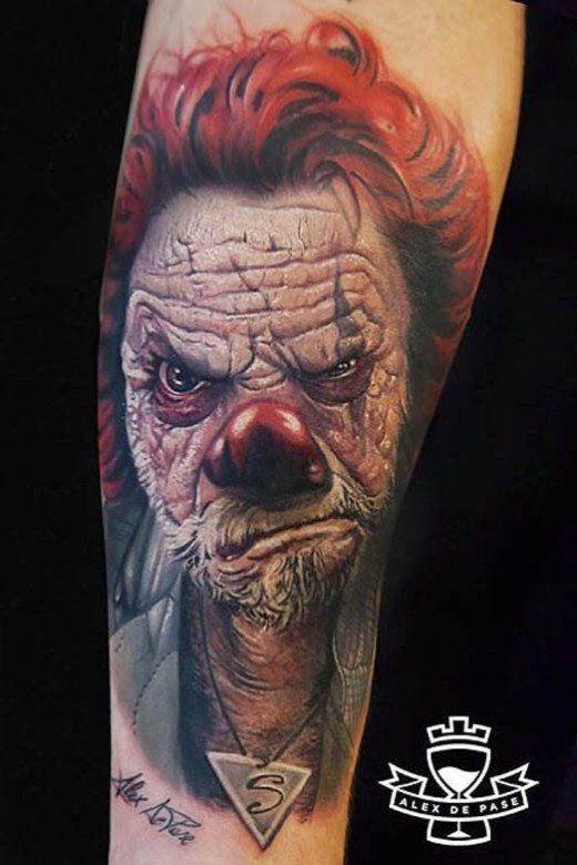 36 creepiest clown tattoos clown tattoo evil clown tattoos and rh pinterest co uk evil clown tattoo bali evil clown tattoo