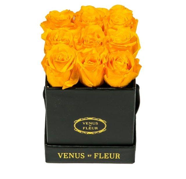 Le Mini Square Black Classic Metallic Centerpieces Flowers