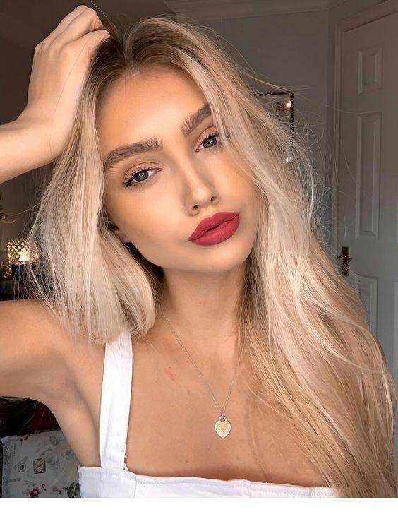 Lips, makeup and natural hair!   Inspiring Ladies - #Hair #Inspiring #Ladies #Lips #Makeup #Natural #naturlocken #lipmakeup