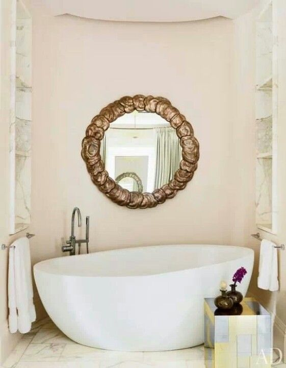 Mirror, soaking tub