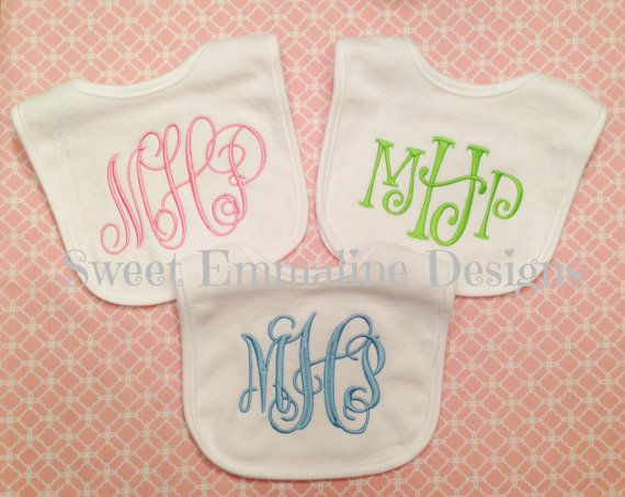 Personalized embroidered monogrammed baby bib monogrammed bib items similar to personalized owl bib monogrammed appliqud bib reversible embroidered baby bib baby shower gift on etsy negle Images
