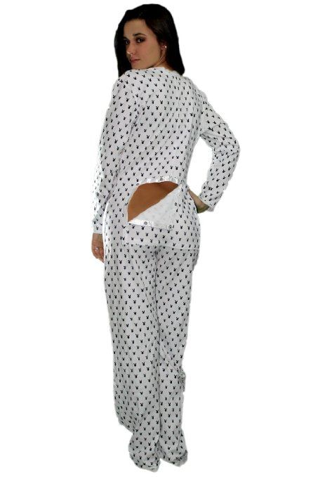 Amazon.com  Playboy Onsies Pajamas- Open bottom jammies-drop seat (Large)   Clothing 4fefb684c