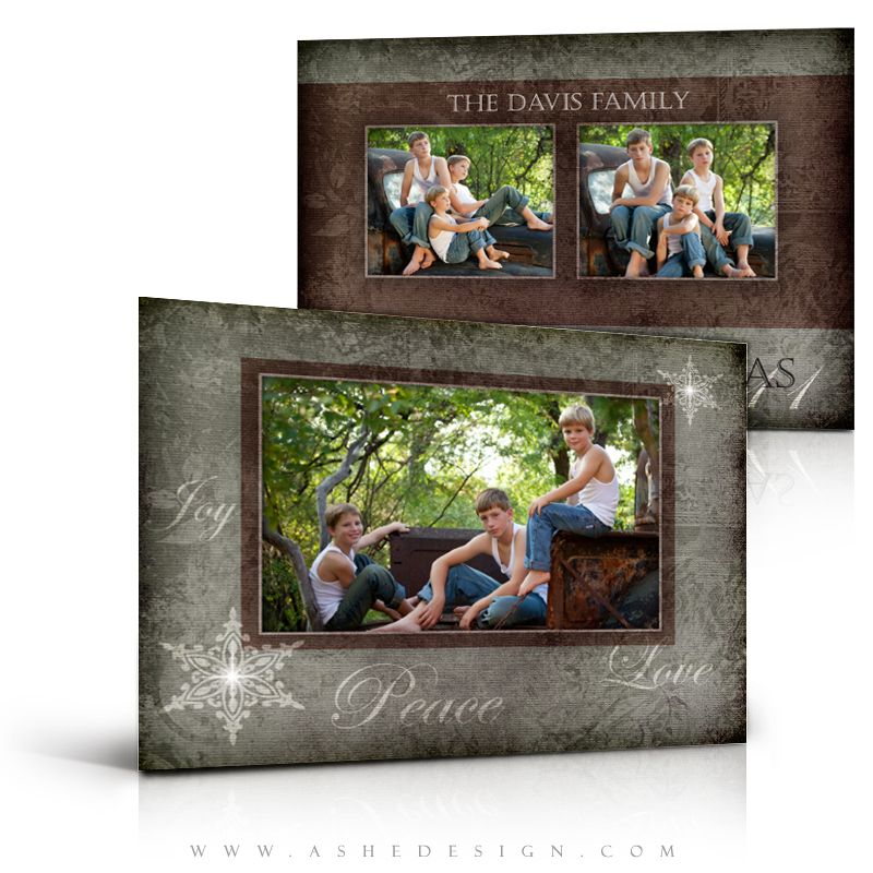 Each of our 5x7 Flat Card designs comes with two fully layered Photoshop PSD files that can be easily customized for your clients. No matter the occasion, simply add your professional images, customize the copy and make beautiful cards for your clients. We offer amazing designs that are perfect for making holiday cards, birth announcements, wedding invitations or graduation announcement/invitations. Choose the perfect design for your occasion and get started!