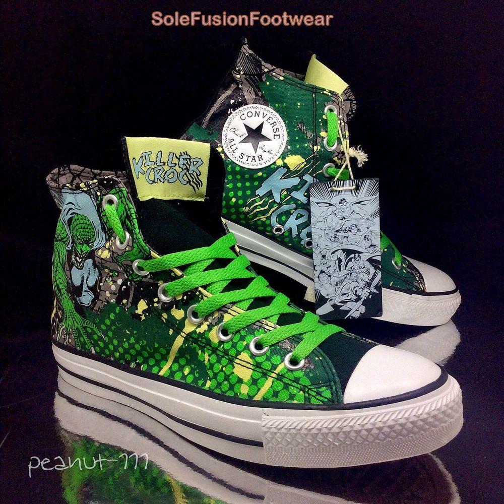 b9f6d6ba5a48 Converse All Star Mens Killer Croc Trainers size 8 DC Comics Sneakers US 10  41.5