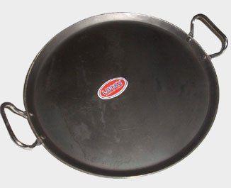 Pancake Pan with Wooden Handle HEAVY DUTY TAWA TAVA Crepe MS Flat Iron Tawa