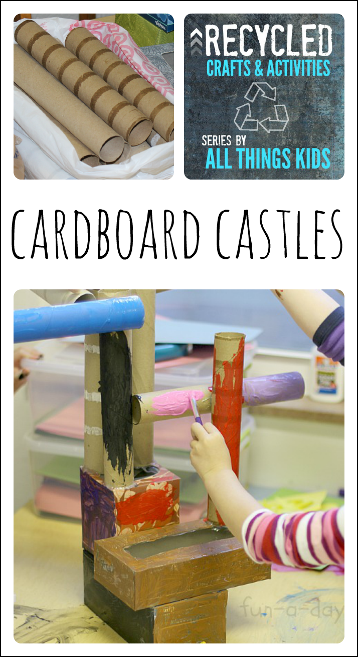 Recycled Art Projects for Kids - Cardboard Castles