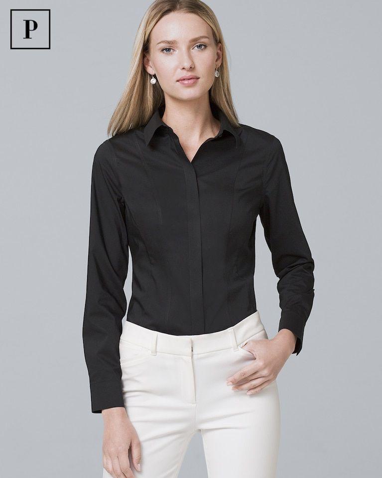 dcc8cff812a Women's Petite Classic Poplin Shirt by White House Black Market ...