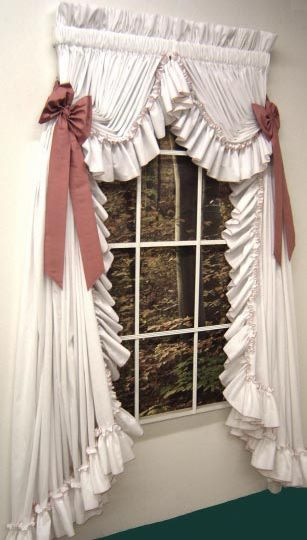 country ruffled curtain these are gorgeous i want these for my new house my style. Black Bedroom Furniture Sets. Home Design Ideas