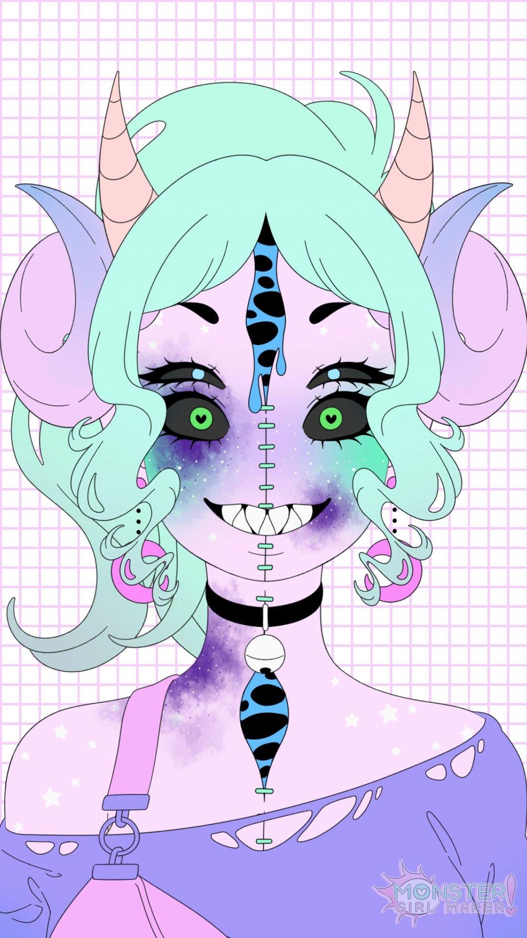 """Created with the """"Monster Girl Maker"""" app. Monster girl"""