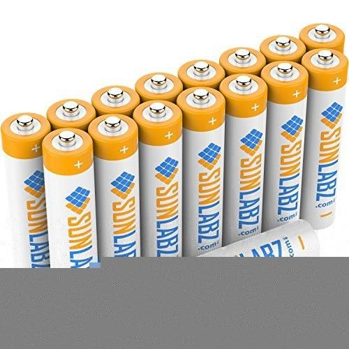SunLabz AAA 400 mAh NiCD Rechargeable Batteries (16-Pack)