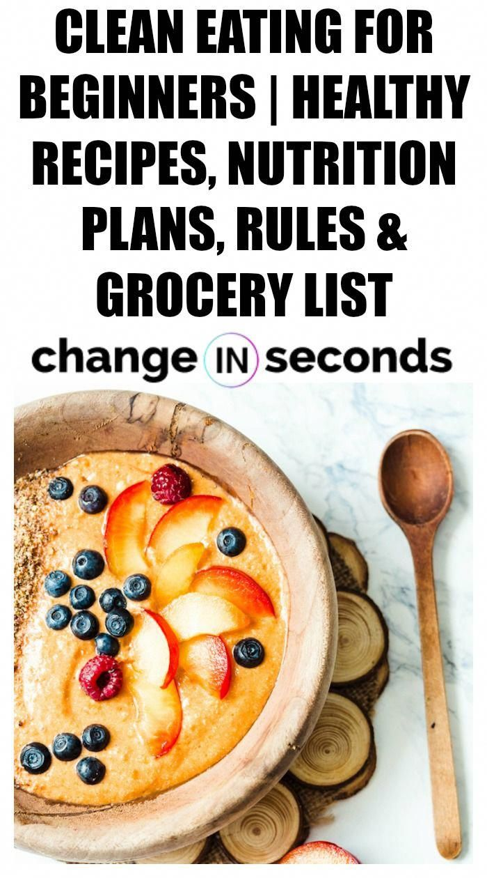 Clean Eating For Beginners Healthy Recipes, Nutrition Plans, Rules & Grocery List! An amazing resource to help you get started today!