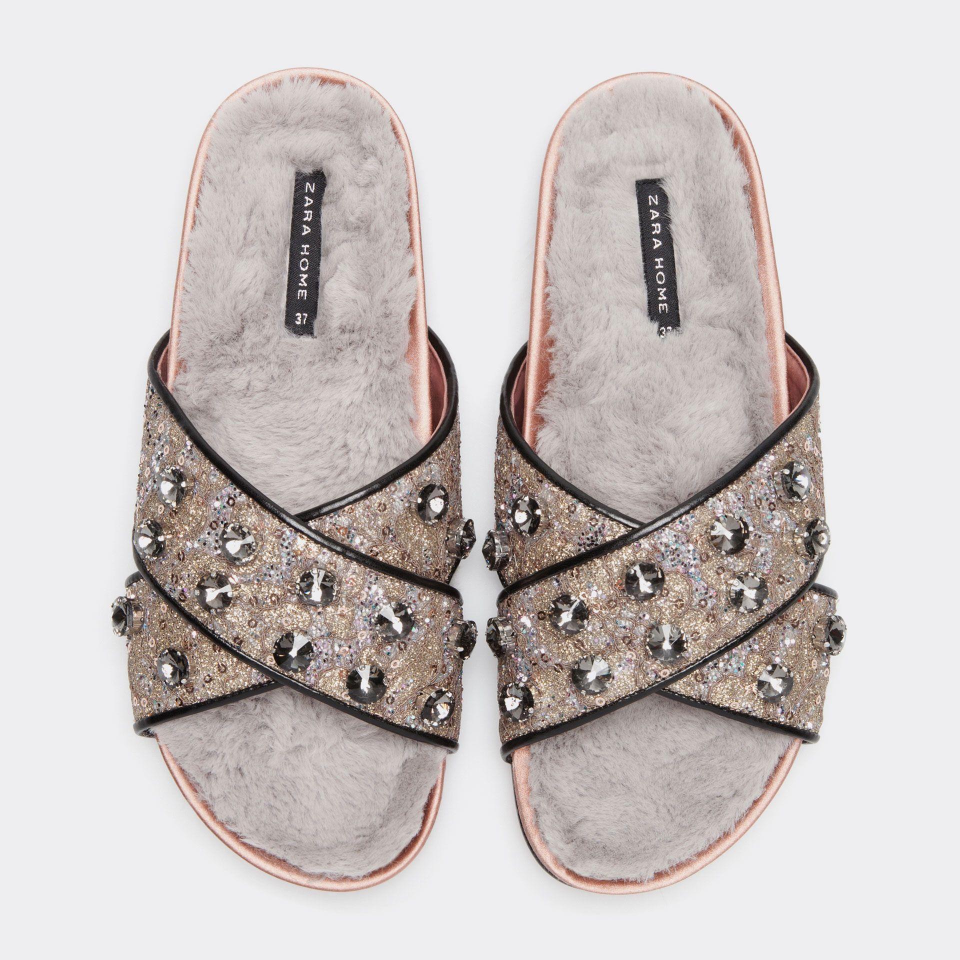 Zara home to open in toronto - Furry Gem Sandals Christmas Women S Homewear Homewear Zara Home South Africa