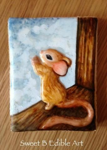 Handpainted Mouse Cookie