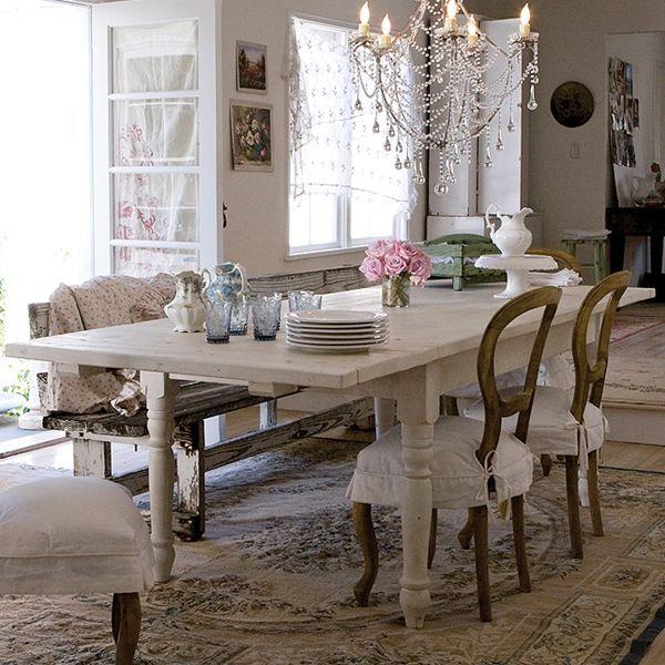 sala-da-pranzo-sedie-legno-rachel-ashwell | Tables | Pinterest ...