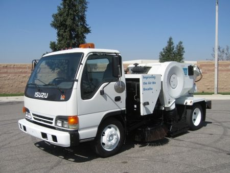 2000 tymco 210 cng air street sweeper on isuzu npr chassis gm 5 7l rh pinterest com