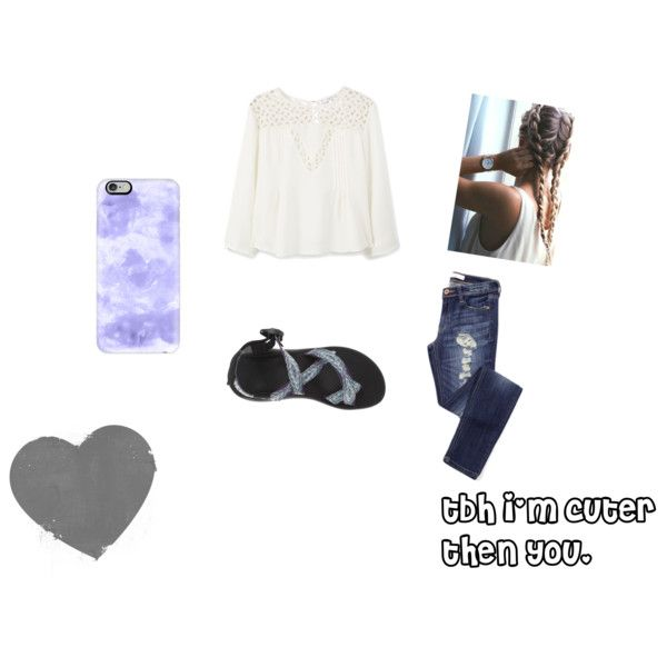 i'm cuter then you. by kidrxuhll on Polyvore featuring MANGO, Chaco, Casetify and Amuse Society