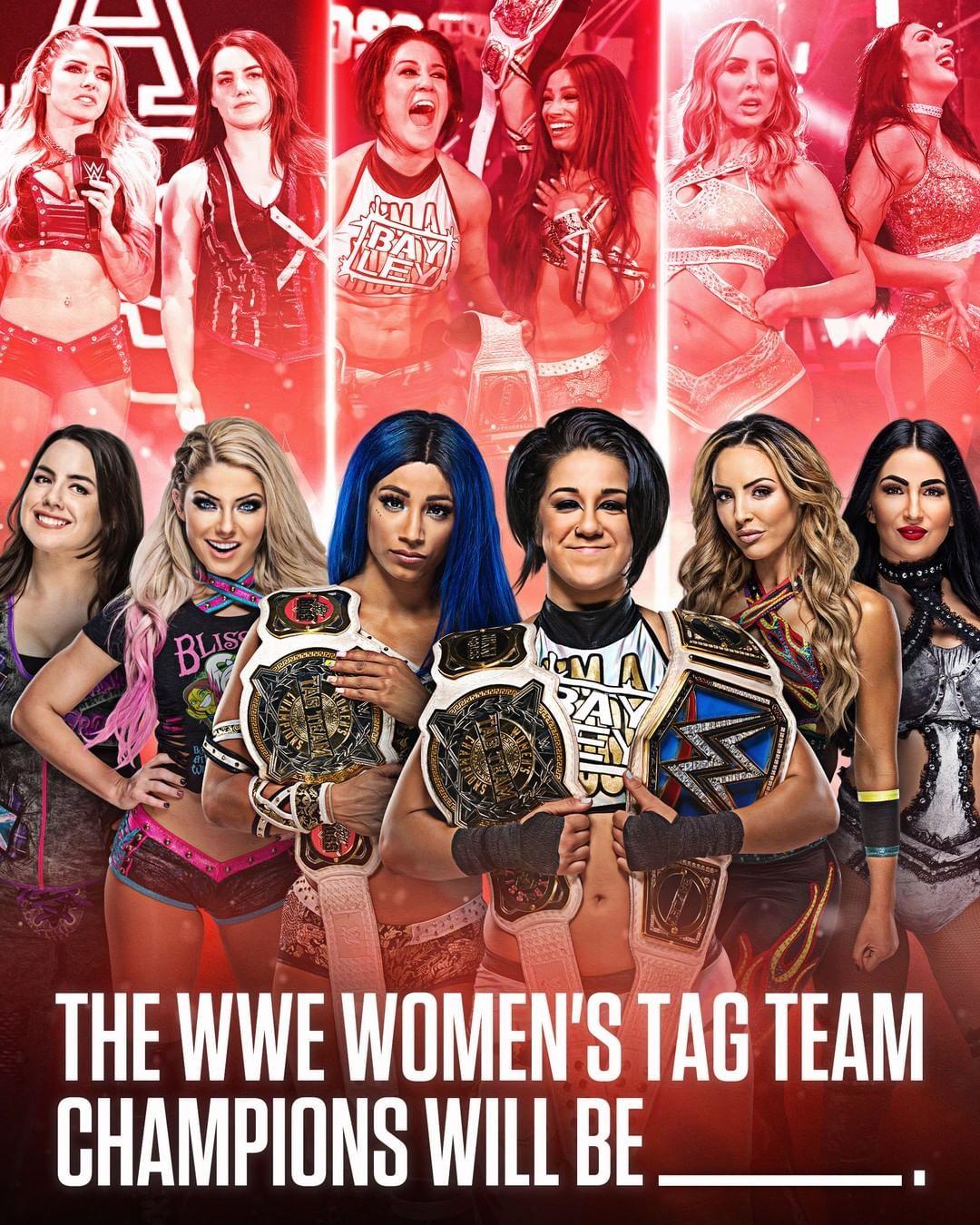 "WWE on Instagram: ""Who's leaving #WWEBacklash as WWE Women's #TagTeamChampions? Tag the winners 👇"""