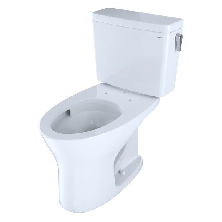 Toto Drake Two Piece Elongated Dual Flush 1 0 And 0 8 Gpf Universal Height Dynamax Tornado Flush Toilet For 10 Inch Rough In With Cefiontect And Right Hand Trip Space Saving Bathroom Flush Toilet Toto