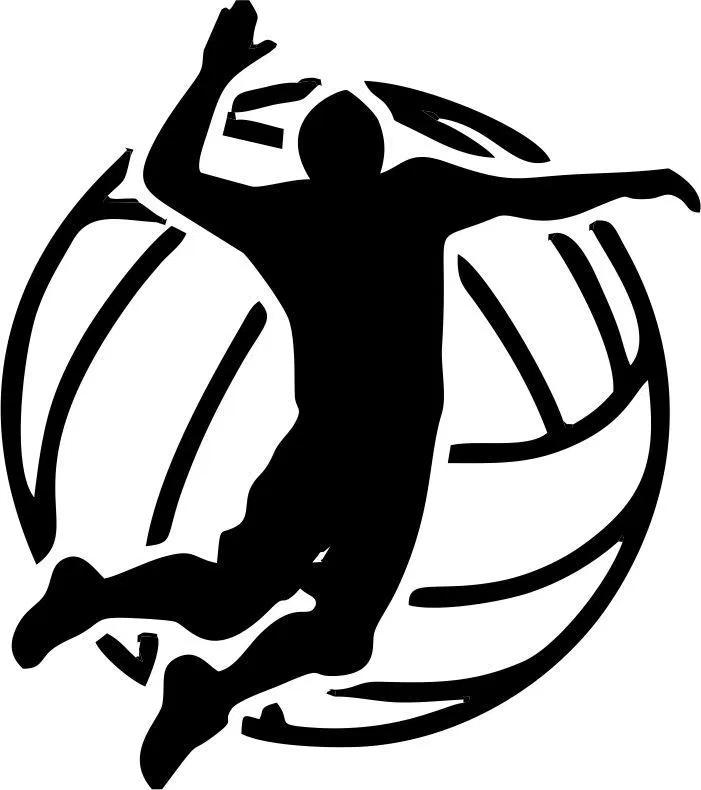 vector sports volleyball icon Bola voli