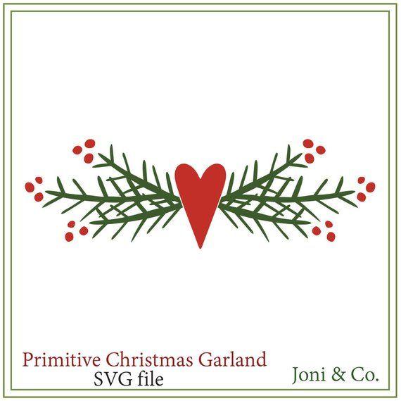 Primitive Christmas svg, Primitive Garland svg,,Ch