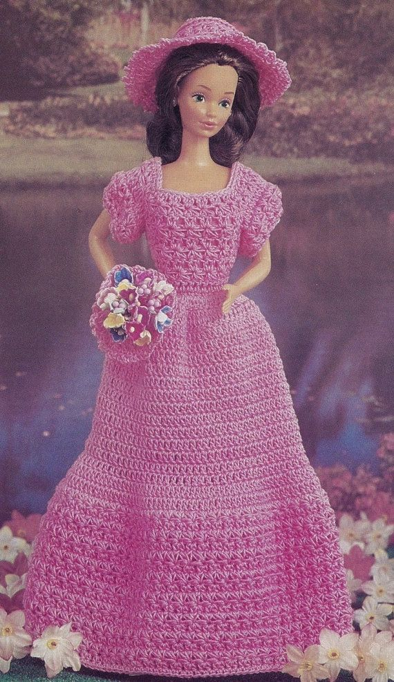 Pink Doll Dress Fashion Doll Clothes Crochet Pattern Byob Build Ur